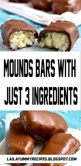Mounds Bars With Just 3 Ingredients Mounds Bars With Just 3 Ingredients