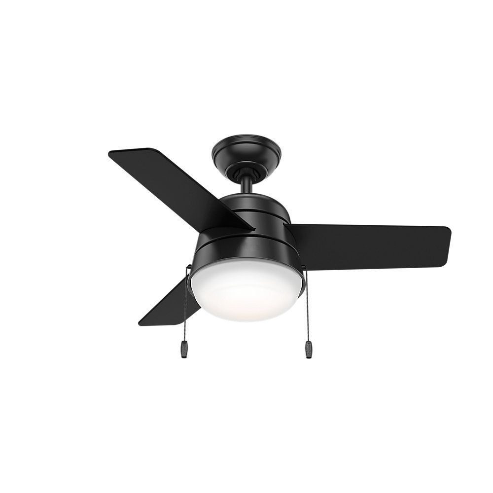 36 Aker 3 Blade Led Ceiling Fan With Light Kit Included Black