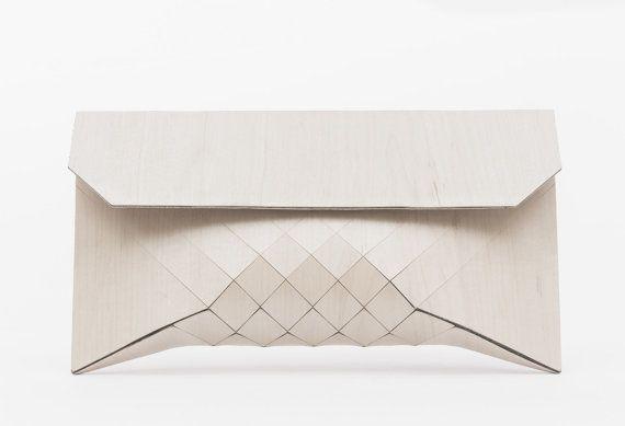 Great White // XL wood clutch di TeslerMendelovitch su Etsy, $680.00