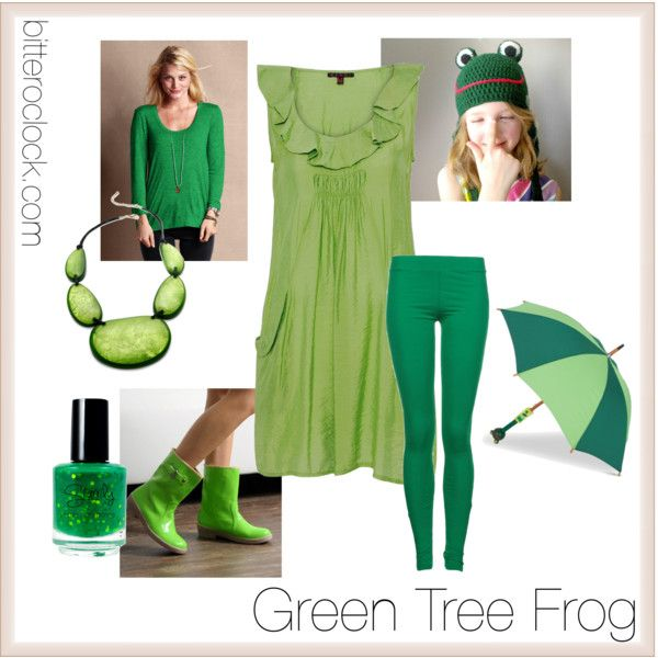Green Tree Frog Costume With Crochet Frog Hat Diy Costumes Kids Frog Costume Diy Halloween Costumes Easy