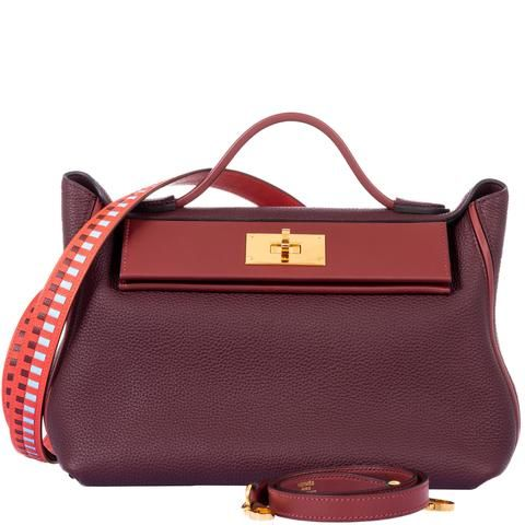 ad356a8312a1 Hermes 24 24 29 Bordeaux   Rouge H Swift   Togo Gold Hardware ...