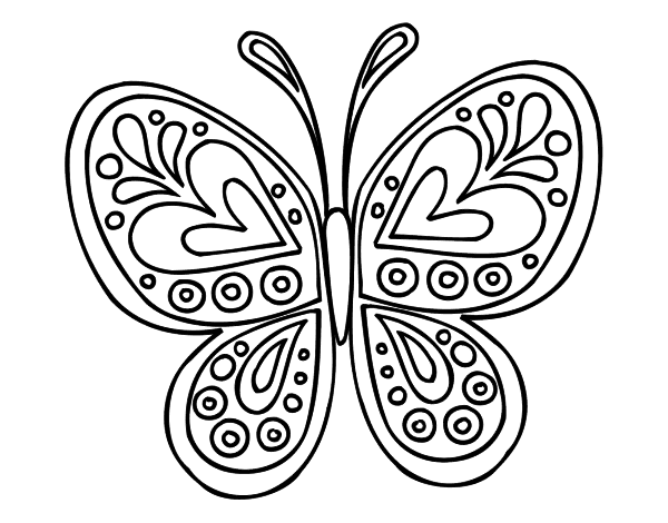 mariposa | zapas pintadas | Ausmalen, Malen y Ostereier ausmalen