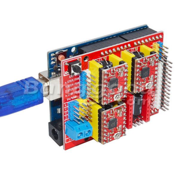 Geekcreit UNO R3 With 4pcs A4988 Driver With CNC Shield V3