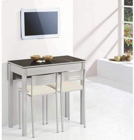 Delumu cocina funcional zona comida desayuno mesa - Mesa estudio plegable ...