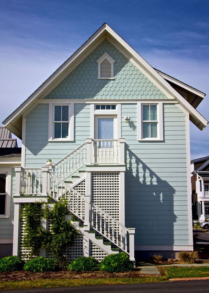 Architecture Great Blue Outdoor Stair Victorian House | Outside Stairs Design For House