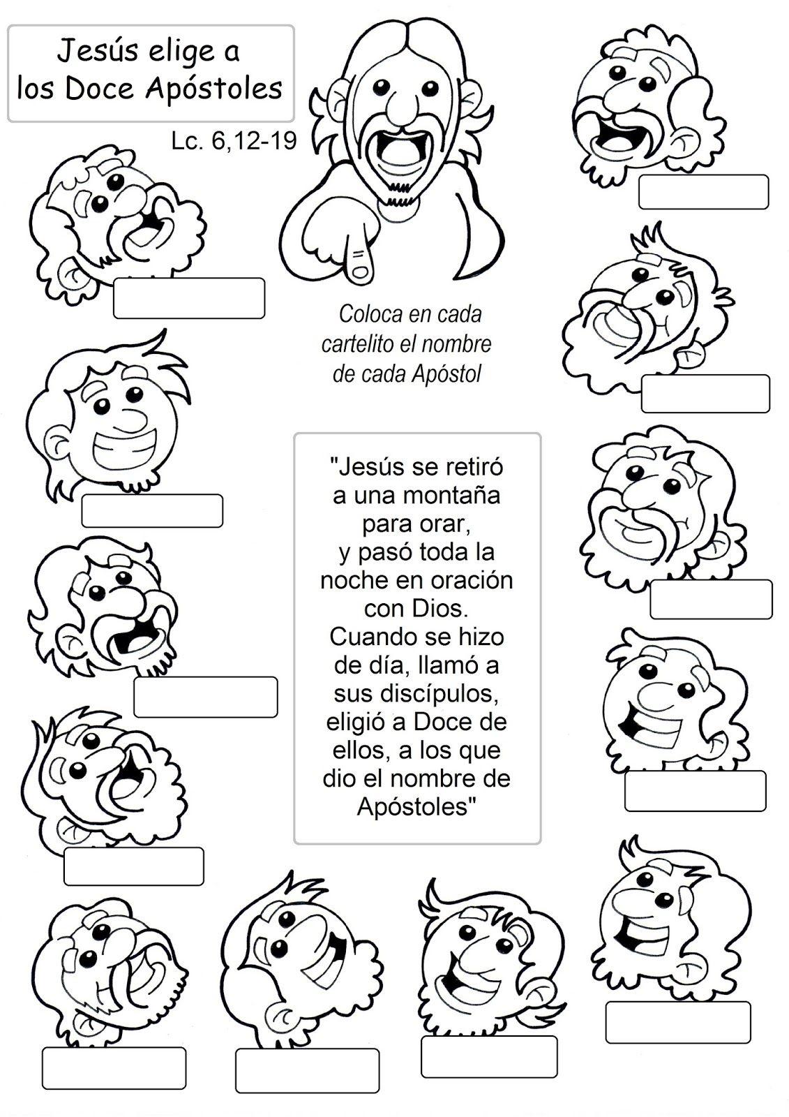 Apostoles3 | NiñOs iGle!!! | Pinterest | Dominical, Escuela ...