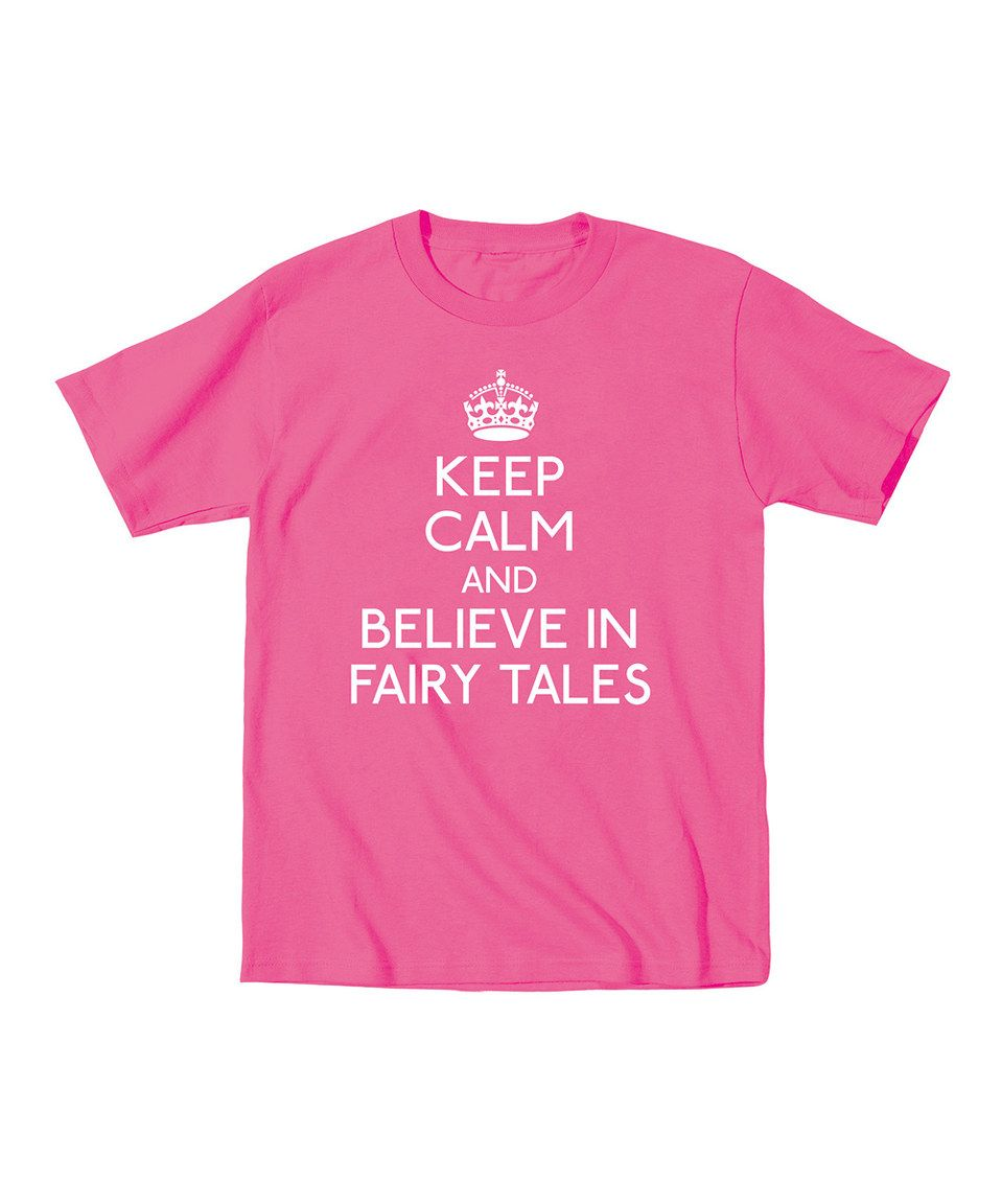 Another great find on #zulily! Raspberry 'Believe in Fairy Tales' Tee - Toddler & Girls by Day Dream Believers #zulilyfinds