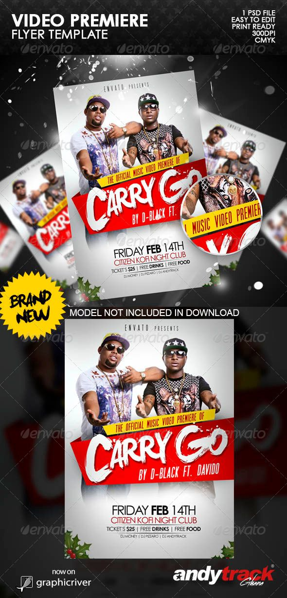 Video Premiere Flyer Template  Flyer Template Template And Event