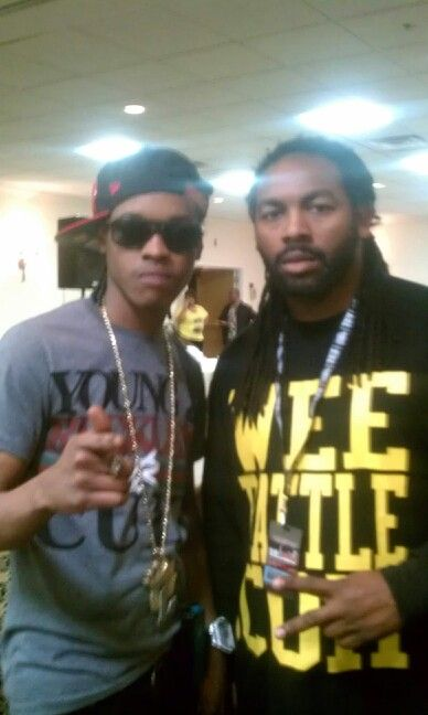 Me and Rap artist Hurricane Chris in Indianapolis