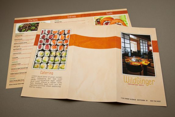 How to create a professional brochure plus 40 superb templates - restaurant menu design templates