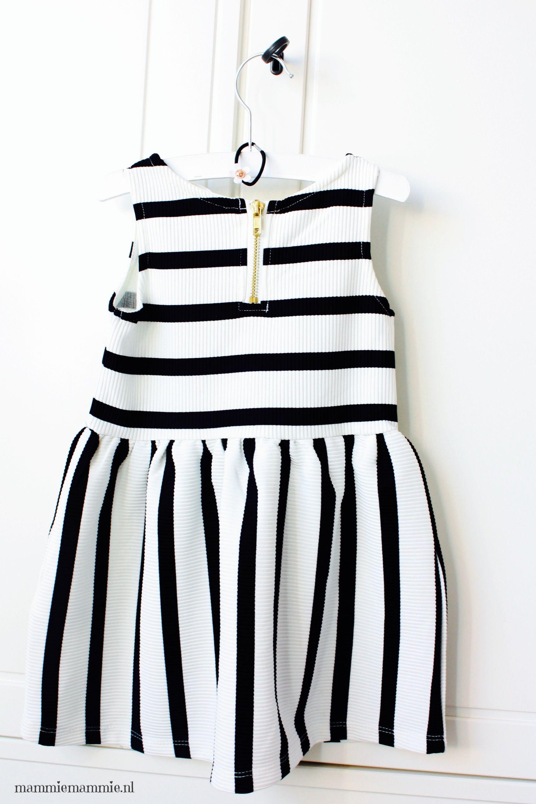 Baby jurk zwart wit