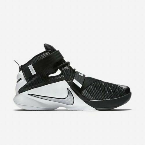pretty nice 6f894 82c9a (eBay Sponsored) Nike Lebron Soldier IX 9 TB Black White Men s Basketball  Shoes