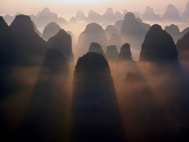 Karst Mountains China Photo By Monique Van Der Lint Landscape Photography