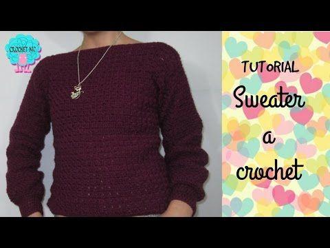 Tutorial Sweater- saco a crochet muy fácil/ punto bloques - YouTube ...