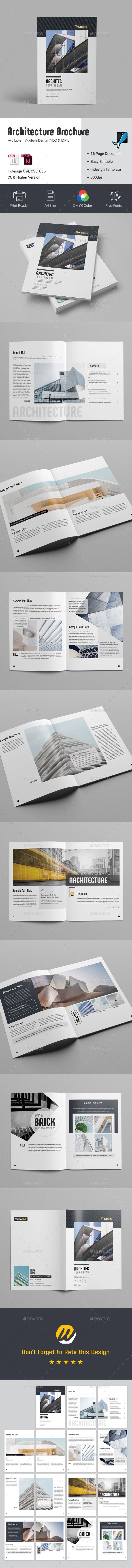 Architecture Brochure  Brochures Brochure Template And Corporate