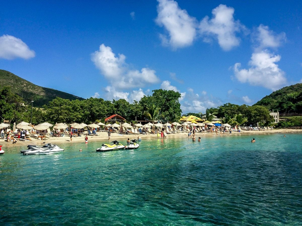 Leshell Beach In St Kitts