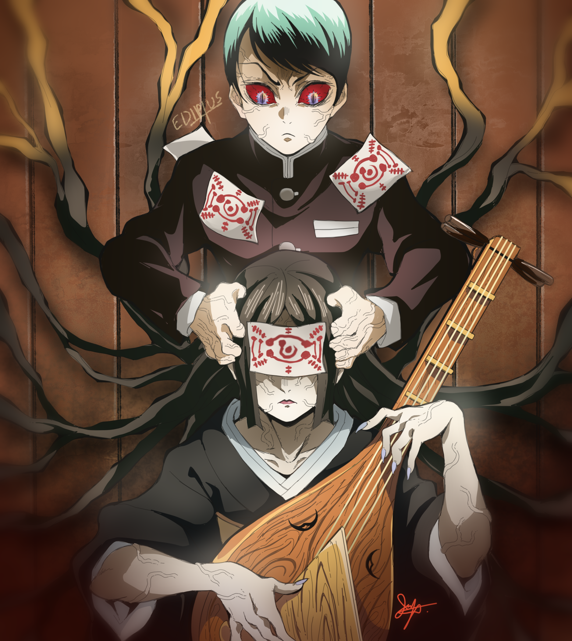 Yushiro and Nakime Kimetsu no Yaiba 182 by EDIPTUS【2020