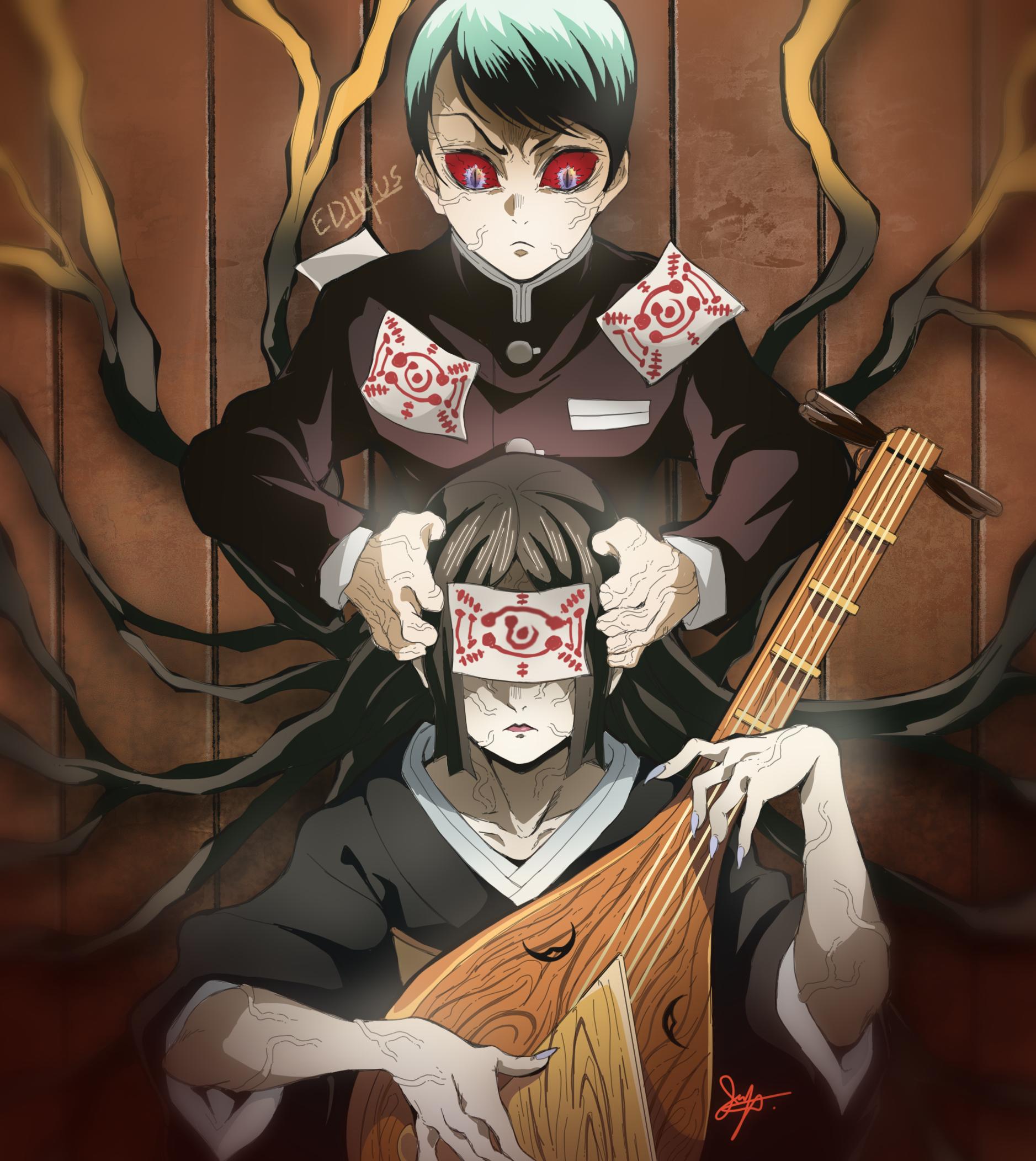 Yushiro And Nakime Kimetsu No Yaiba 182 By Ediptus Anime Demon Anime Characters Anime