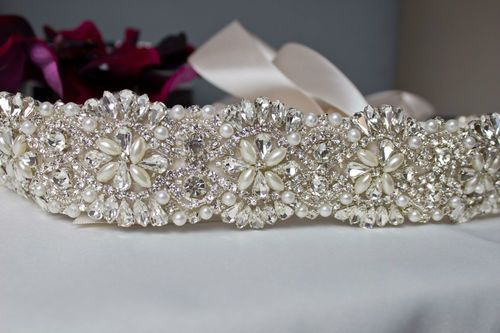 Pearl Crystal Rhinestone Bridal Wedding Dress Belt Sash Co Ebay Http Www Uk Itm 271161540008
