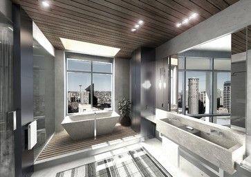 Hotel Bathroom Suite Contemporary Bathroom Seattle Garret - Bathroom design seattle