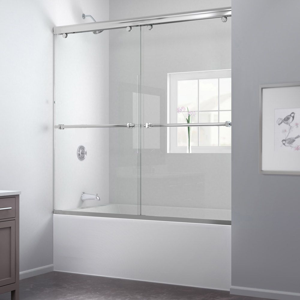 Dreamline showers about company nh sdb pinterest showers dreamline charisma 56 to frameless bypass sliding tub door and qwall tub backwall kit mega supply store planetlyrics Image collections