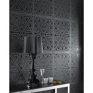 Barbara Hulanicki Viva Wallpaper Black Gloss From Homebase Co Uk