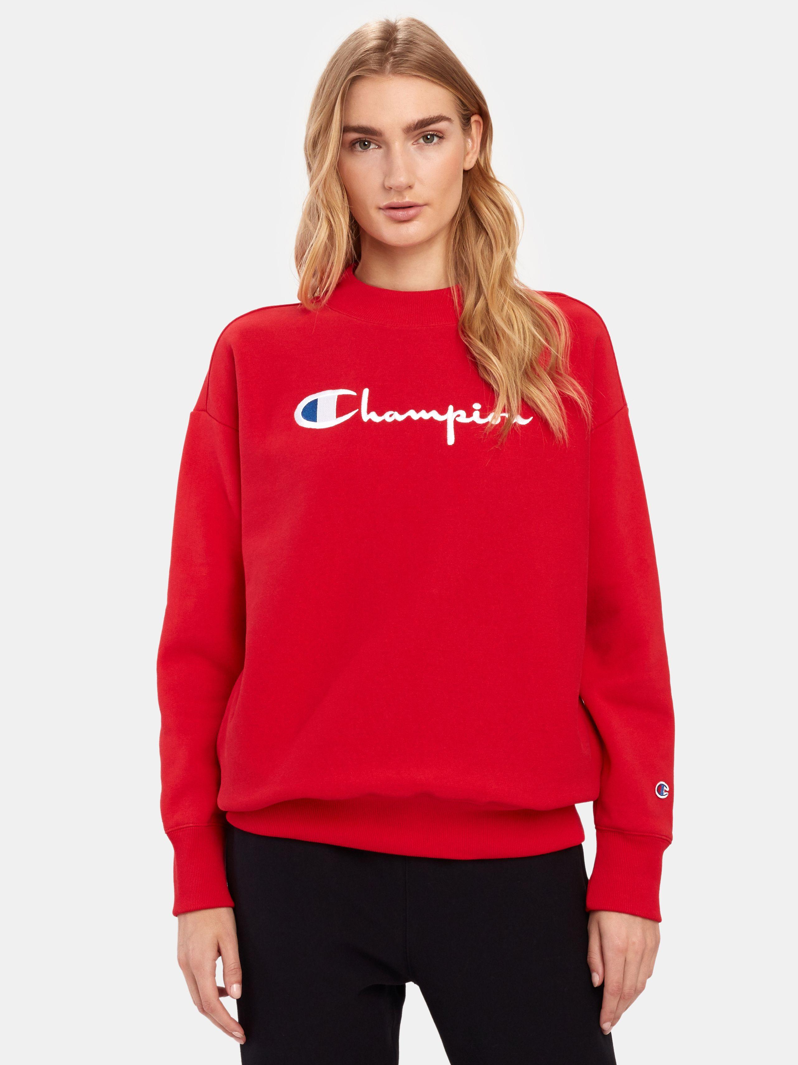 Buy Cheap Champion Reverse Weave Big Script Oversized Crewneck Sweatshirt Red M Also In Champion Reverse Weave Red Champion Sweatshirt Crew Neck Sweatshirt [ 3418 x 2564 Pixel ]