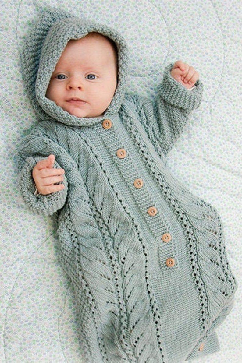 Knitting Pattern Baby Sleeping Bag Cocoon Sleep Sack ...