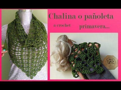 So beautiful!!!!Chalina o pañoleta a crochet primavera - YouTube ...