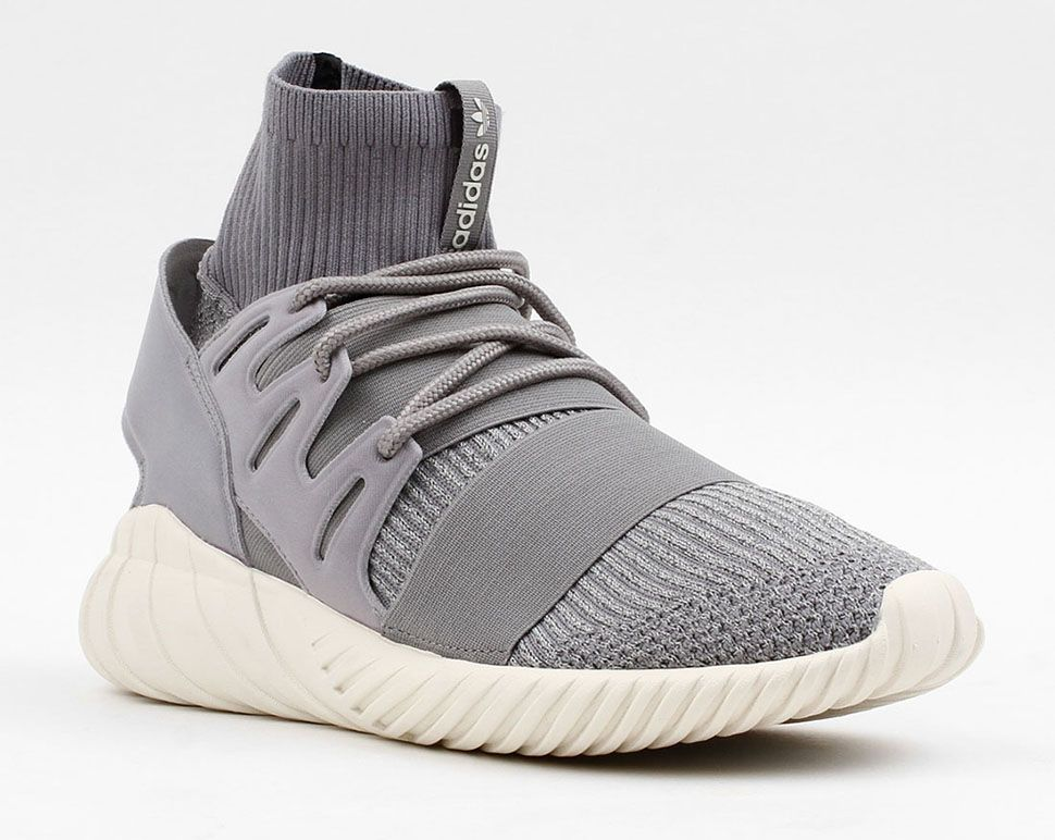 The adidas Tubular Doom Primeknit Grey takes on a feel and is built with  Primeknit through the base. Find this Pin and more on Street Sneakers by ...