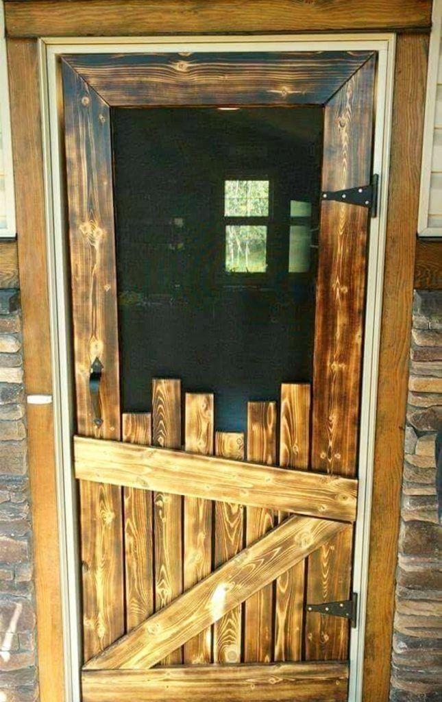 DIY pallet screen door. Love this idea of making a screen ...