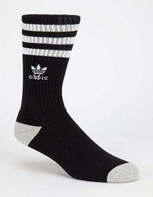a70f6152d ADIDAS Originals Roller Mens Crew Socks Black