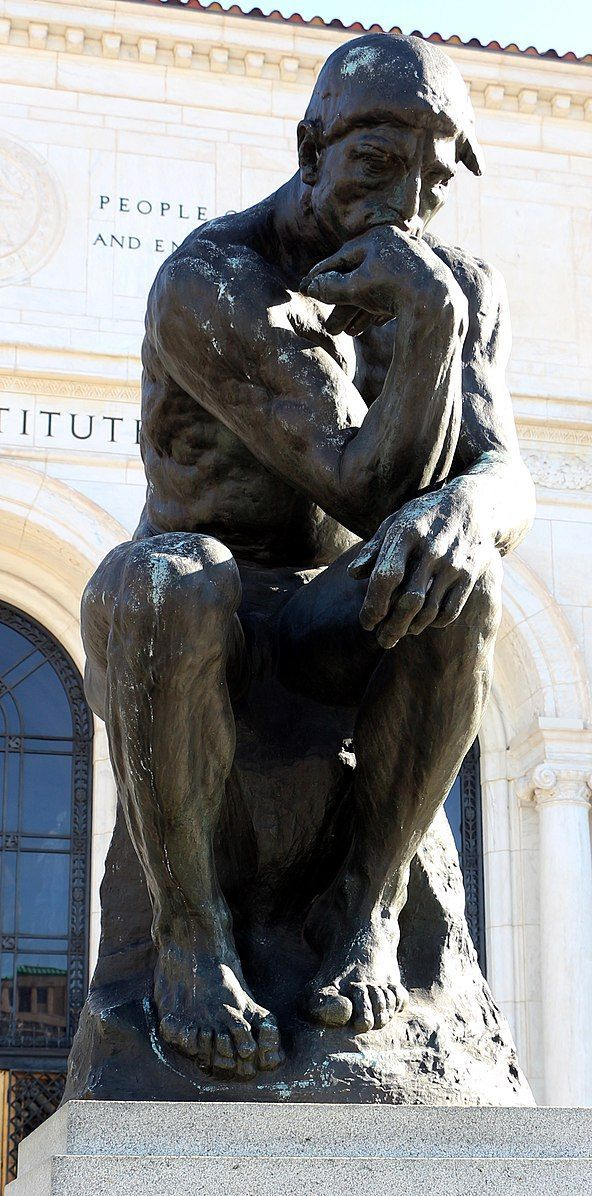 1882.The thinker, sculpture by Auguste Rodin,at the Detroit Institute of Arts.R... - #auguste #detroit #institute #rodin #sculpture #thinker - #AugusteRodin