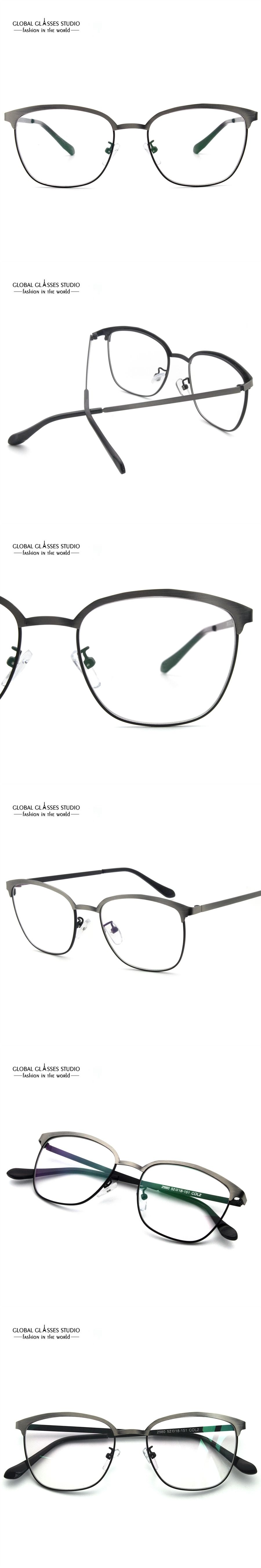03f4c9cfc41 Latest Design Eyebrow Metal Glasses Brushed Color Precious Metal Optical  Frame Business Men Comfortable Spectacle Frame