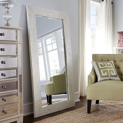 Ivory Mother-of-Pearl Floor Mirror | Home decor | Pinterest | Floor ...