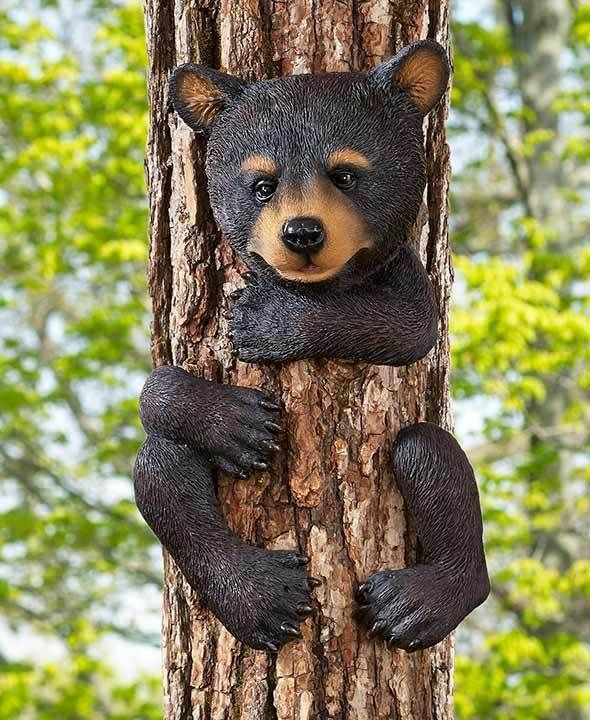 Details about Climbing Chipmunk Tree Hugger Fence Mount ...