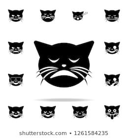 weary cat icon cat smile icons universal set for web and