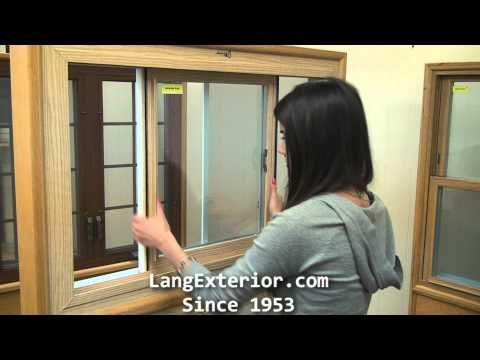 How to clean a Lang slider window