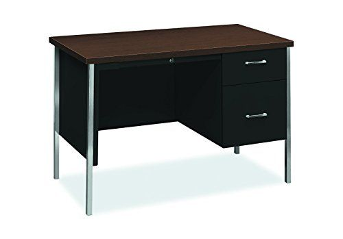 HON 34000 Series Small Office Desk - Right Pedestal Desk with File