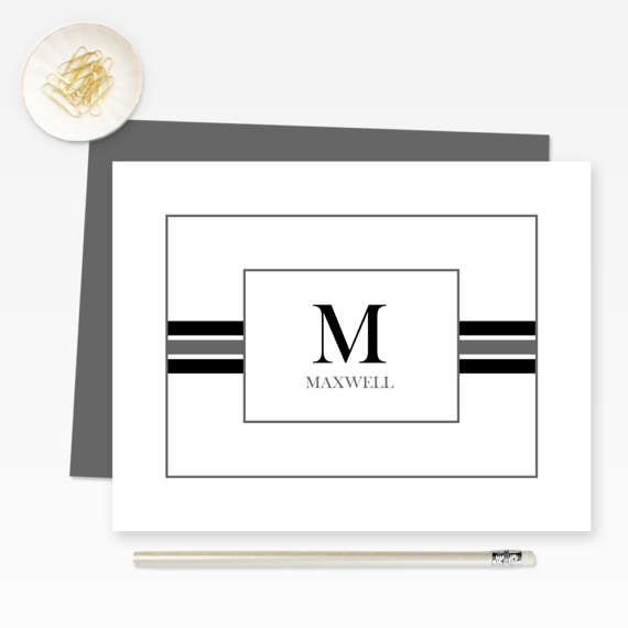 Personalized Stationery Custom Monogram Note Cards