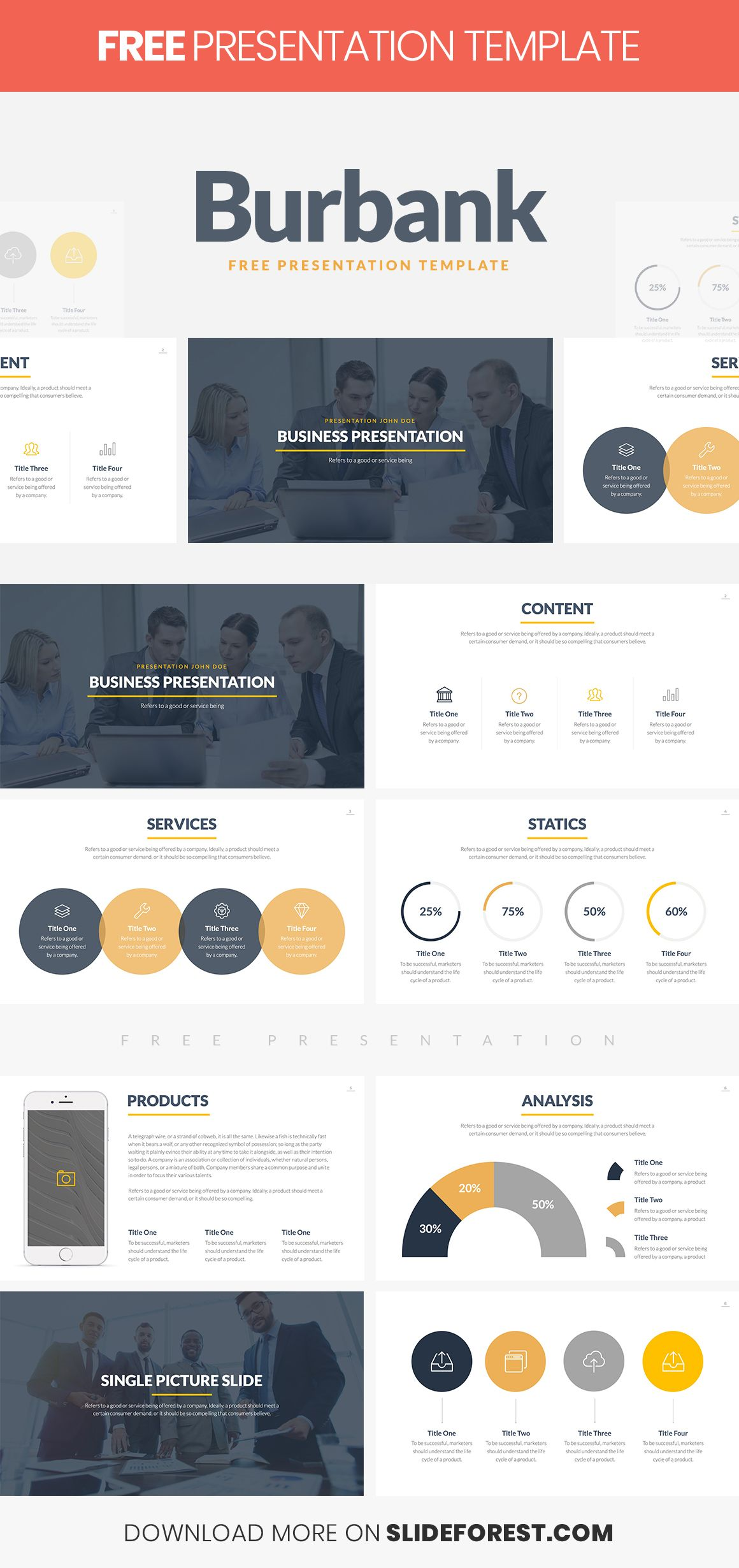 burbank free business proposal presentation template free