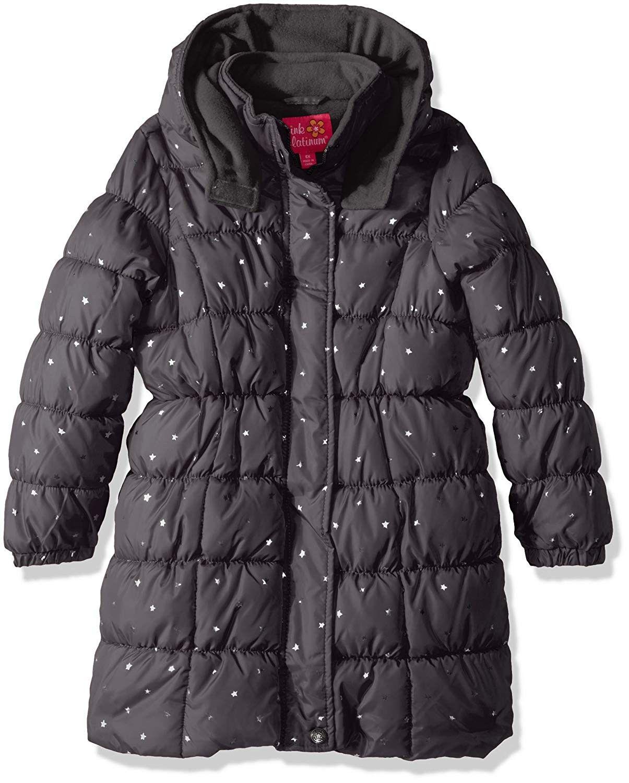 Girls Foil Star Long Puffer Charcoal Cd17yt5kqc6 Long Puffer Kids Outdoor Clothes Girls Puffer Jacket [ 1500 x 1205 Pixel ]
