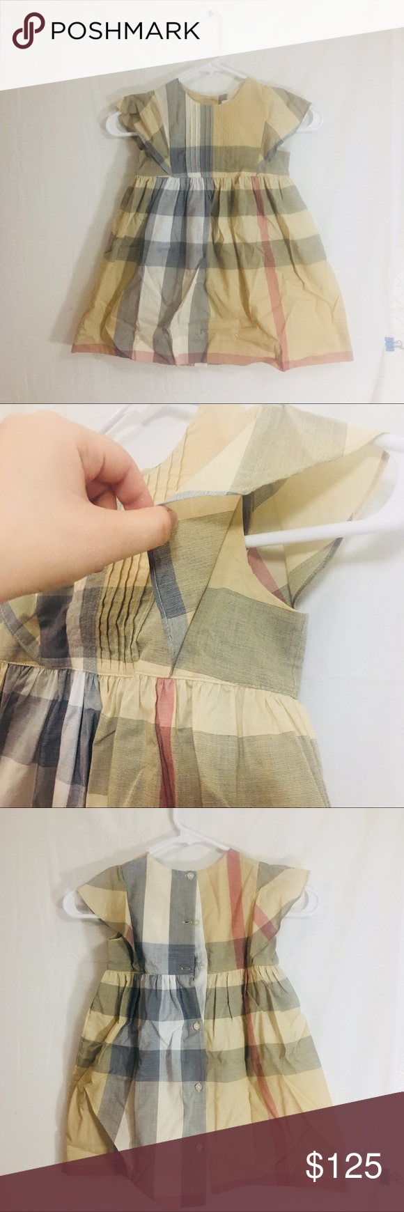 bfd11d1f4 Burberry girl dress new with tag 100%cotton Size is 4Y 104cm(39-41 ...