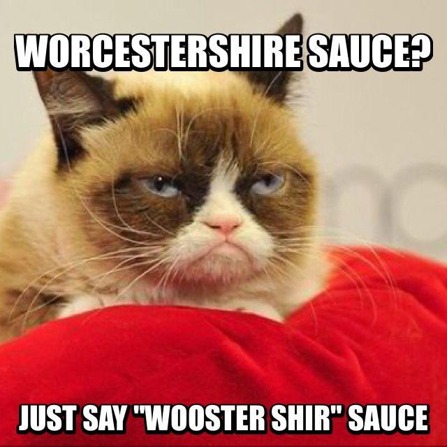 Worcestershire Sauce Grumpy Cat Grumpy Cat Funny Cats Cats