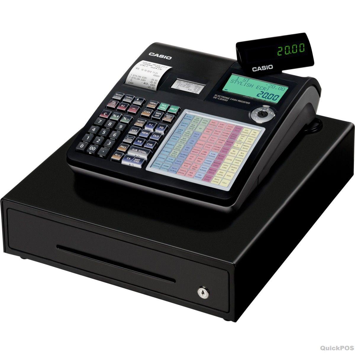 Casio sec2000 cash register compact and stylish design