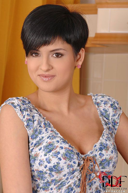Coco de mal nude brunette short hair remarkable phrase