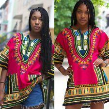 NUEVO Mujer Moda Africano Vestido Estampado Informal Festive Sexy Mini