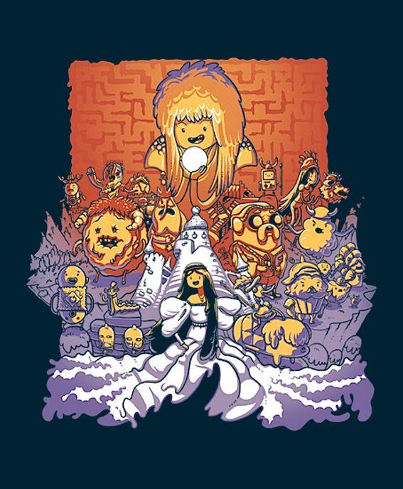 Adventure Time + Labyrinth mashup on TeeFury today!