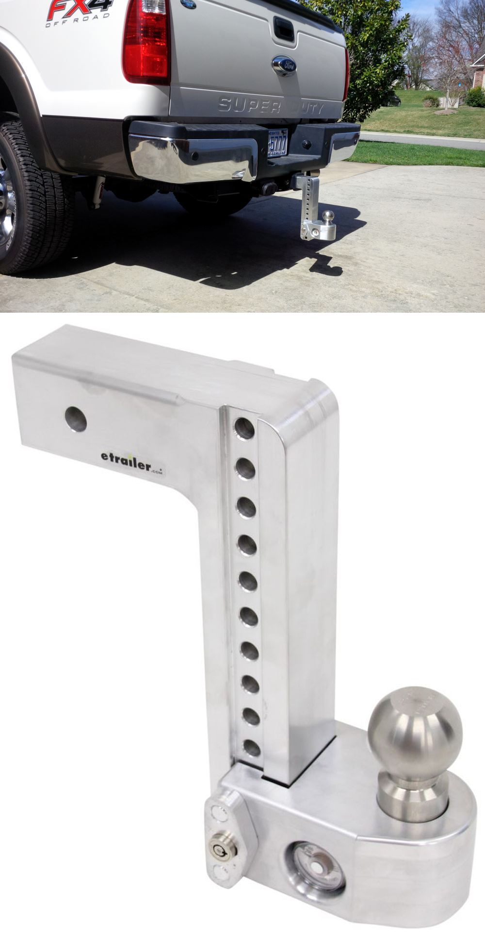 """Weigh Safe 2 Ball Mount w Built In Scale 2 1 2"""" Hitch 10"""" Drop"""