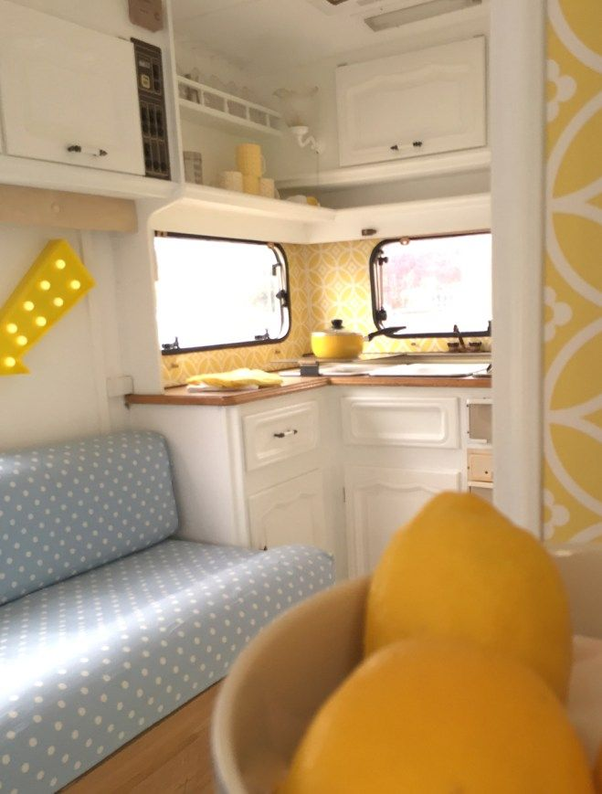 caravan makeover take one ugly little touring caravan. Black Bedroom Furniture Sets. Home Design Ideas